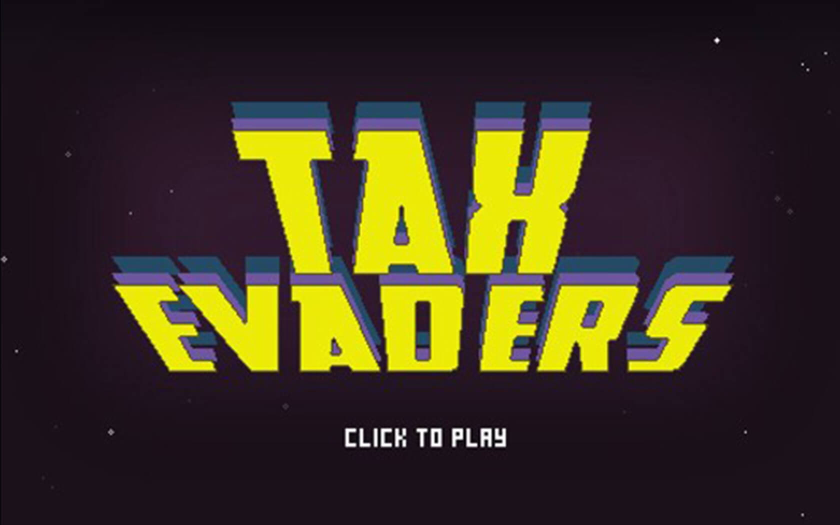 Tax Evaders Title screen - Ashton Morris