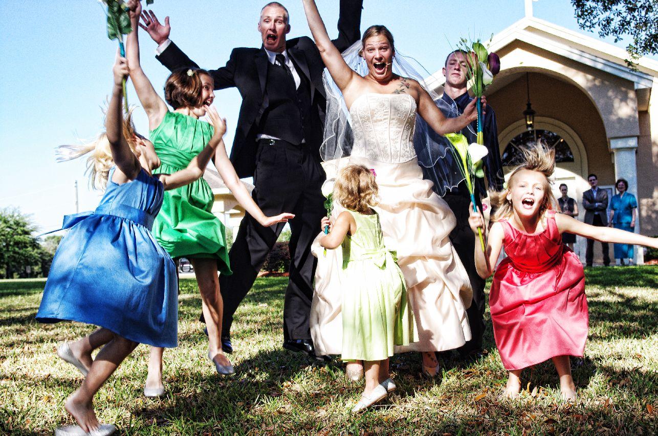 wedding jump ashton morris