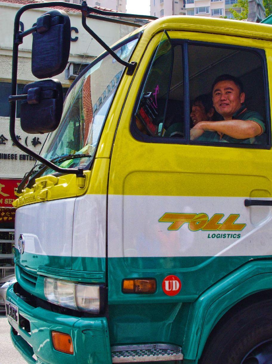 happy truck driver ashton morris